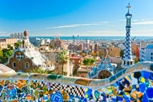 barcelona spain background