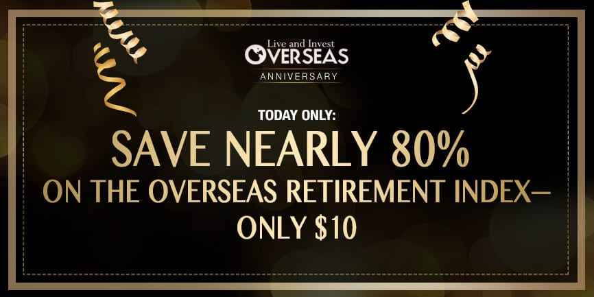 Overseas Retirement Index anniversary promo